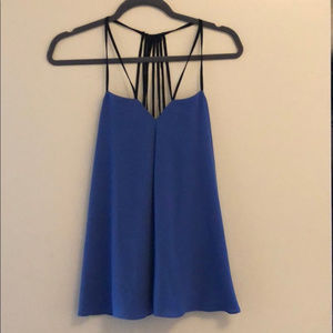 NWT Express periwinkle strappy tank size medium